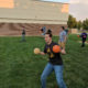 Student preparing to win dodgeball