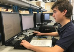 Student doing schoolwork